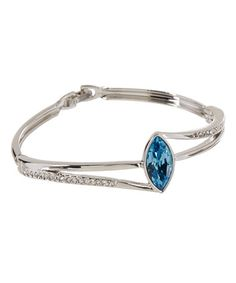 Aqua Crystal Pavé Bangle Made With SWAROVSKI ELEMENTS #zulily #zulilyfinds