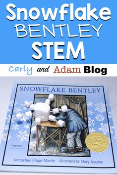 Snowflake Bentley STEM Activity (Build a Snowflake): Engage students during the long winter months with STEM! Steam Activities, Winter Activities, Book Activities, Classroom Activities, Kindergarten Classroom, Snowflake Bentley, Steam Learning, Stem Science, Life Science