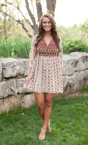 Boho Beauty Printed Dress