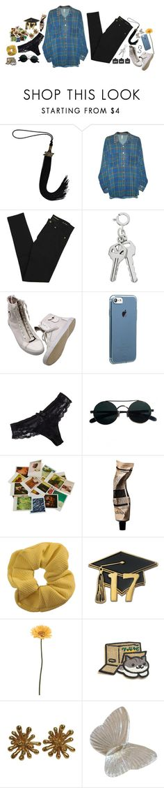 """Graduates and Flower Bundles"" by queen-of-music ❤ liked on Polyvore featuring American Apparel, Yves Saint Laurent, Chantelle, CÉLINE, Chronicle Books, Aesop, Topshop, Gerber and Christian Lacroix"