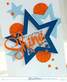 Your Time To Shine Card by Betsy Veldman for Papertrey Ink (September 2014)