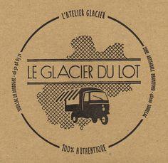 Le Glacier du Lot, à retrouver au salon de thé-patisserie Au Bec Sucré à Lalbenque - design agence http://16et12.com/