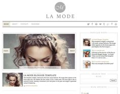 La Mode Premade Blogger Template - has lots of awesome features! Image slider, summary posts, etc. Blog Website Design, Website Design Inspiration, Autumn Inspiration, Web Design, One Image, Blogger Templates, Free Blog, Sales And Marketing, Blogger Themes