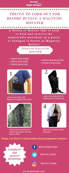Check out the various pistols to concealed your pistols perfectly near your ankles, belly, shoulder etc. Contact us to know more. Pocket Holster, Pistol Holster, Holsters, Pistols, Hand Guns, Magnets, Hold On, Ankle, American