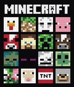 (7) Name: 'Quilting : Minecraft Quilt Block - Mooshroom