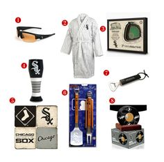 8 Great Father's Day Gift ideas for the avid Chicago White Sox Fan! See all of our White Sox gifts at http://www.topnotchgiftshop.com/chicago-white-sox.html