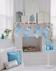 House of Turquoise: Turquoise Holiday Decor    LOVE these colors