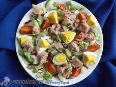 Tonhalas vitaminsaláta tojással Cobb Salad, Potato Salad, Food And Drink, Tasty, Dishes, Ethnic Recipes, Kitchen, Anime, Diet