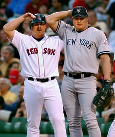 Jason and Jeremy Giambi  Jason Giambi had a longer career than his younger brother, but the rivalry peaked during 2003 when Jeremy joined the AL East to play for the Boston Red Sox. Jason, who had the stronger bat, spent 20 seasons in the MLB including a seven year stint with the New York Yankees. Both shared the same roster in 2000 and 2001 for the Oakland A's.