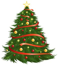 Large Size Transparent Decorated Christmas Tree PNG Clipart
