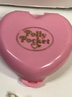 Polly Pocket Compact Heart Shape Living Room Set Pizza Bear Couch Table
