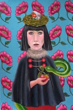 Life and Death Painting Contemporary Decorative Art, Original Paintings, Original Art, Life And Death, Naive Art, Flower Art, Artwork Online, Folk Art, Art Floral