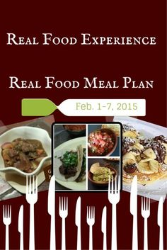 Real Food Experience Meal Plan Week 5 - Quick and Easy weeknight Dinners, plus Crock Pot Guinness Stew - Healthy recipes for dinner