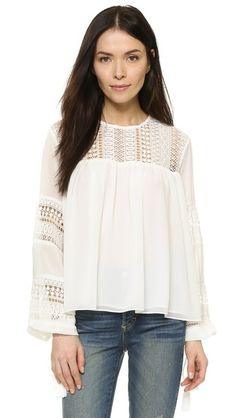 Lace Tassel Blouse. Lovely casual style...