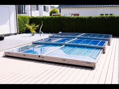 Poolüberdachung ohne Schienen - abri.at - YouTube Pool Spa, Piscina Diy, Pool Care, Automatic Gate, Plunge Pool, Swimming Pool Designs, Outdoor Kitchen Design, Beach House, House Plans