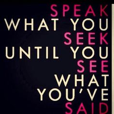 Think, act and speak as though it is already happening, and it will! #lawofattraction #positive #thesecret