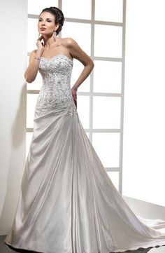 Maggie Sottero - Sweetheart A-Line Gown in Silk Taffeta