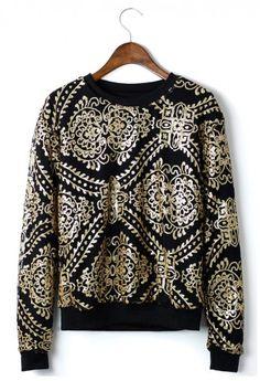 Baroque Sequins Sweater