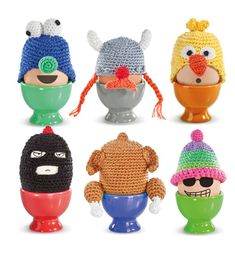 Donkey Products knitted character egg warmers