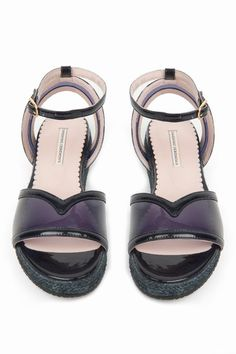 OC patent leather espadrille sandals