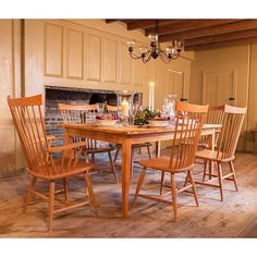 Enjoy dining in traditional country style with a rustic Reclaimed Barnwood Dining Table & Country Windsor Chairs.