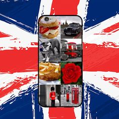 A montage case celebrating all things English as it is the 90th birthday of the Queen and St George's day this week.