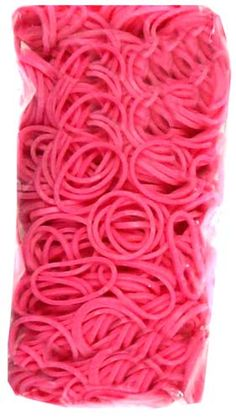 Official Rainbow Loom 600 Ct. Rubber Band Refill Pack PINK