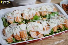 Kimchi, Fresh Rolls, Food Styling, Sushi, Salmon, Cooking Recipes, Diet, Chicken, Ethnic Recipes