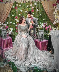 The latest wedding dresses at Bridal Fashion Week – My hair and beauty Bridal Mehndi Dresses, Pakistani Wedding Outfits, Indian Bridal Outfits, Bridal Dress Design, Wedding Dresses For Girls, Pakistani Wedding Dresses, Bridal Style, Walima Dress, Shadi Dresses