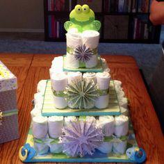 Baby boy diaper cake!