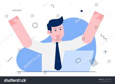 Find Happy Businessman Businessman Illustration stock images in HD and millions of other royalty-free stock photos, illustrations and vectors in the Shutterstock collection. Thousands of new, high-quality pictures added every day. Business Illustrations, Royalty Free Stock Photos, Concept, Happy, Artist, Pictures, Fictional Characters, Image, Photos