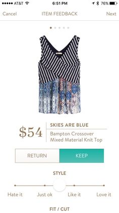 Skies Are Blue Bampton Crossover Mixed Material Knit Top     https://www.stitchfix.com/referral/8592117
