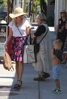 Southern charm: Reese Witherspoon carried herself with grace Saturday in West Hollywood, where she took her son Tennessee, aged three years, out to lunch