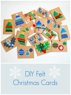 DIY Felt Christmas Cards - northstory
