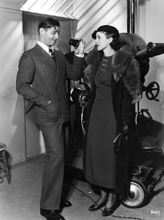 Clark Gable and Ruth Matteson photographed by Margaret Chute, ca. 1934