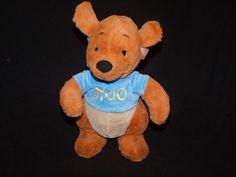 "Disney Store Exclusive Baby Roo Kangaroo Kanga Embroidered Blue Shirt Plush 12"" #Disney"