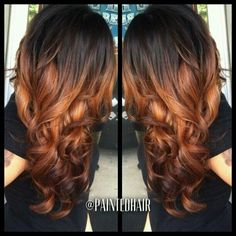 This is a good idea for ombre loving the color