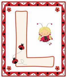 Lady Bug, Alphabet Letter Templates, Alphabet Letters, Alfabeto Animal, Alphabet For Kids, Alphabet Soup, Forever Memories, Bedtime Prayer, A Bug's Life