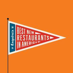 Esquire's Best New Restaurants In America on Behance