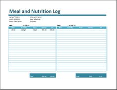 The meal log is a document related to the nutritional intake of an individual. Meal log template is a very handy and useful document and can be utilized to calculate and assess the amount of calories in a given portion of food.