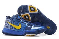 d058cc22aef3 Original Nike Kyrie 3 Navy Blue Yellow PE - Mysecretshoes Online Outlet