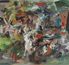 """Cecily Brown, """"The Haunter"""" (2010). Decades after Warhol (and Dave Hickey) there's no significant Poptimist-equivalent movement in art criticism. Now that Brown is phasing out representation she gets dissed for superficiality, but in painting (more than any other artform, maybe) it's surfaces that matter."""