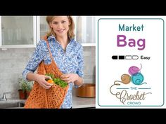 Crochet an awesome market bag to be roaming around to collect your veggies and…