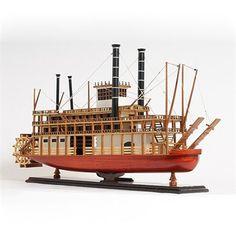 Old Modern Handicrafts King Mississipi Steamboat Model Dobbs Ferry, Steamboats, Model Ships, Lowes Home Improvements, Handicraft, Mississippi, Sailing Ships, Survival, King