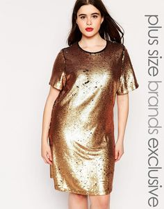 Truly You Sequin TShirt Dress