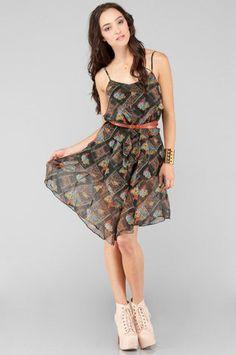 Free People Plaid Daisy Dress $33 at www.tobi.com