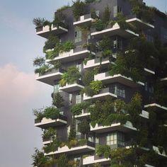 【arine1202】さんのInstagramをピンしています。 《bosco vertical (垂直の森)  中世の街並みを残すミラノにそびえる近代的な二棟の緑のタワーマンション。 カメラの望遠でアップしてみると、本物のグリーンいっぱいのマンションでした 遠くから見るとモコモコ緑で不思議な建物ですが、とってもオシャレ✨ 調べたら、イタリア・ミラノの建築家が限られた土地で緑を増やそうと試みた結果、マンションごと森にしてしまおうとデザインされた建物なんだそうです。 植えられている木の種類のひとつに桜の木もあるのだそう✨ 春に訪れてみたいと思いました。 窓からの眺めはどんな感じなのでしょうか 想像するだけで...ワクワクしますね✨ #milano #building #architecture #design #designer #art #sky #nature #green #cherryblossom #balcony #balconyview #amazing #awesome #valconyviewdesign #design #italy #alitalia…