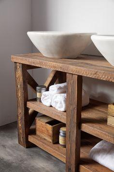 Οι λεπτομέρειες στο ξύλο. Ξυλινα χειροποίητα έπιπλα μπάνιου Furnibath