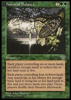 Magic: the Gathering - Natural Balance - Mirage Magic: the Gathering http://smile.amazon.com/dp/B003UWFLAY/ref=cm_sw_r_pi_dp_NynXwb19TX73B