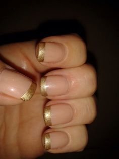 French inspired using CND SHELLAC Bare Chemise & Locket Love